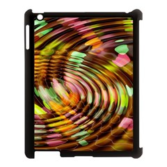 Wave Rings Circle Abstract Apple Ipad 3/4 Case (black)