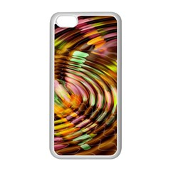 Wave Rings Circle Abstract Apple Iphone 5c Seamless Case (white)