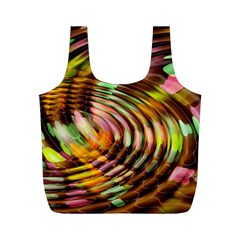Wave Rings Circle Abstract Full Print Recycle Bags (m)