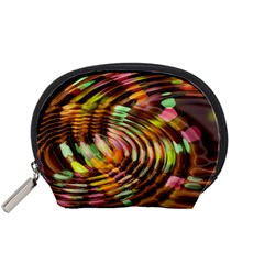 Wave Rings Circle Abstract Accessory Pouches (small)