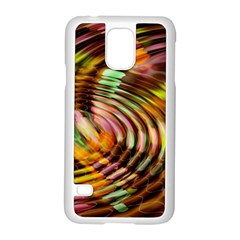 Wave Rings Circle Abstract Samsung Galaxy S5 Case (white)
