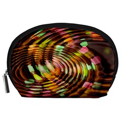 Wave Rings Circle Abstract Accessory Pouches (large)