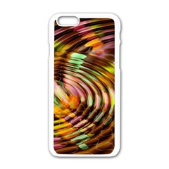 Wave Rings Circle Abstract Apple Iphone 6/6s White Enamel Case