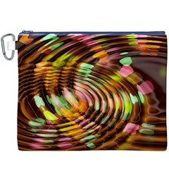 Wave Rings Circle Abstract Canvas Cosmetic Bag (xxxl)