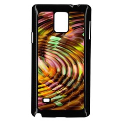 Wave Rings Circle Abstract Samsung Galaxy Note 4 Case (black)