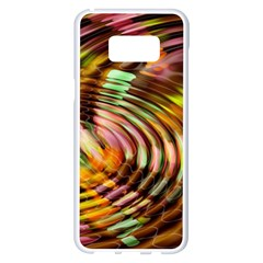 Wave Rings Circle Abstract Samsung Galaxy S8 Plus White Seamless Case