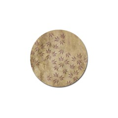 Parchment Paper Old Leaves Leaf Golf Ball Marker (10 Pack)