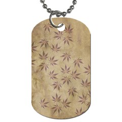 Parchment Paper Old Leaves Leaf Dog Tag (two Sides)