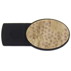 Parchment Paper Old Leaves Leaf Usb Flash Drive Oval (2 Gb)