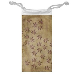 Parchment Paper Old Leaves Leaf Jewelry Bag