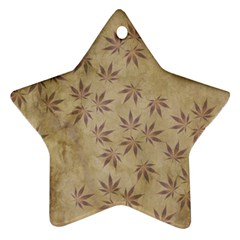 Parchment Paper Old Leaves Leaf Star Ornament (two Sides)