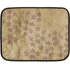 Parchment Paper Old Leaves Leaf Double Sided Fleece Blanket (mini)
