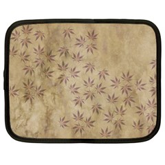 Parchment Paper Old Leaves Leaf Netbook Case (xxl)