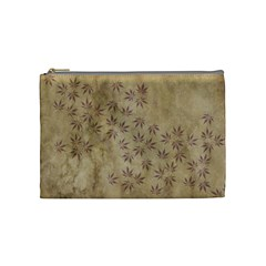 Parchment Paper Old Leaves Leaf Cosmetic Bag (medium)