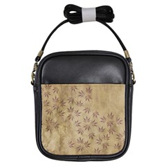 Parchment Paper Old Leaves Leaf Girls Sling Bags