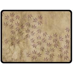 Parchment Paper Old Leaves Leaf Fleece Blanket (large)