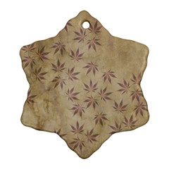 Parchment Paper Old Leaves Leaf Ornament (snowflake)