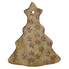 Parchment Paper Old Leaves Leaf Christmas Tree Ornament (two Sides)