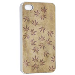 Parchment Paper Old Leaves Leaf Apple Iphone 4/4s Seamless Case (white)