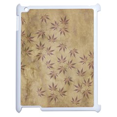 Parchment Paper Old Leaves Leaf Apple Ipad 2 Case (white)