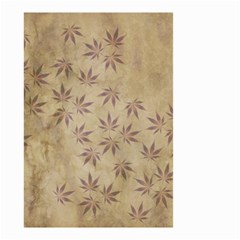 Parchment Paper Old Leaves Leaf Small Garden Flag (two Sides)