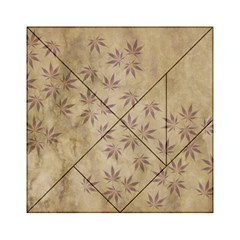 Parchment Paper Old Leaves Leaf Acrylic Tangram Puzzle (6  X 6 )
