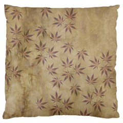 Parchment Paper Old Leaves Leaf Large Cushion Case (one Side)