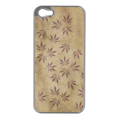 Parchment Paper Old Leaves Leaf Apple Iphone 5 Case (silver)