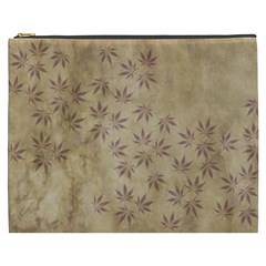 Parchment Paper Old Leaves Leaf Cosmetic Bag (xxxl)