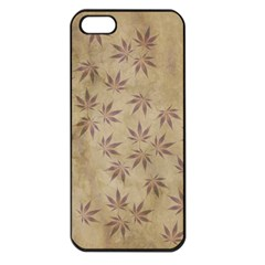 Parchment Paper Old Leaves Leaf Apple Iphone 5 Seamless Case (black)