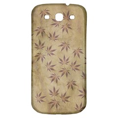 Parchment Paper Old Leaves Leaf Samsung Galaxy S3 S Iii Classic Hardshell Back Case