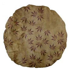 Parchment Paper Old Leaves Leaf Large 18  Premium Round Cushions