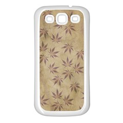 Parchment Paper Old Leaves Leaf Samsung Galaxy S3 Back Case (white)