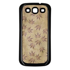 Parchment Paper Old Leaves Leaf Samsung Galaxy S3 Back Case (black)