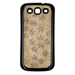Parchment Paper Old Leaves Leaf Samsung Galaxy S3 Back Case (Black) Front