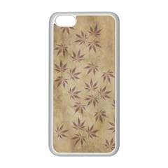Parchment Paper Old Leaves Leaf Apple Iphone 5c Seamless Case (white)