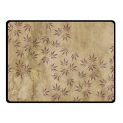 Parchment Paper Old Leaves Leaf Double Sided Fleece Blanket (small)