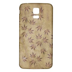 Parchment Paper Old Leaves Leaf Samsung Galaxy S5 Back Case (white)