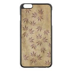 Parchment Paper Old Leaves Leaf Apple Iphone 6 Plus/6s Plus Black Enamel Case