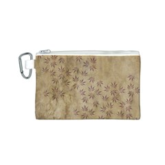 Parchment Paper Old Leaves Leaf Canvas Cosmetic Bag (s)