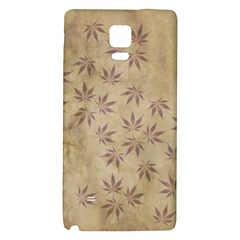 Parchment Paper Old Leaves Leaf Galaxy Note 4 Back Case