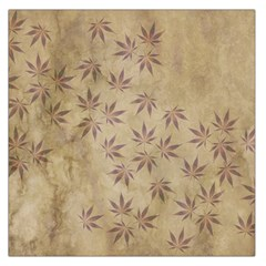 Parchment Paper Old Leaves Leaf Large Satin Scarf (square)