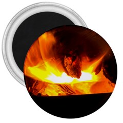 Fire Rays Mystical Burn Atmosphere 3  Magnets