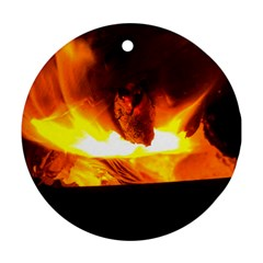 Fire Rays Mystical Burn Atmosphere Ornament (round)