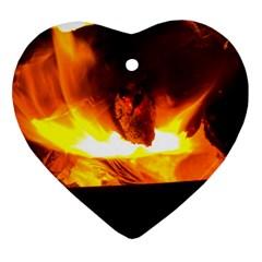 Fire Rays Mystical Burn Atmosphere Ornament (heart)
