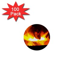 Fire Rays Mystical Burn Atmosphere 1  Mini Buttons (100 Pack)