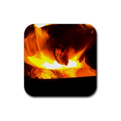 Fire Rays Mystical Burn Atmosphere Rubber Coaster (square)