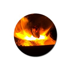 Fire Rays Mystical Burn Atmosphere Magnet 3  (round)