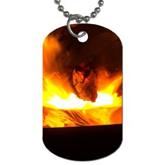 Fire Rays Mystical Burn Atmosphere Dog Tag (two Sides)