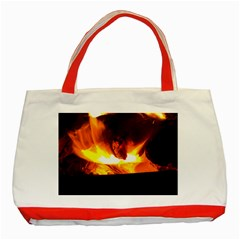 Fire Rays Mystical Burn Atmosphere Classic Tote Bag (red)